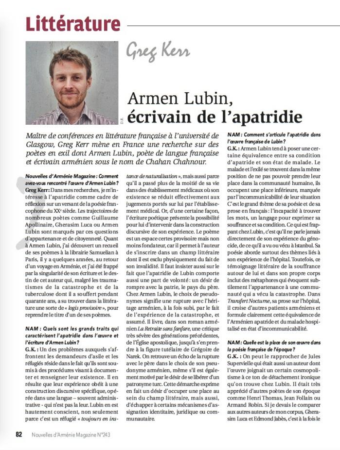 Première page Lubin